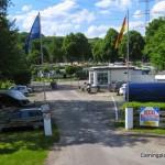Einfahrt zum Campinggelände
